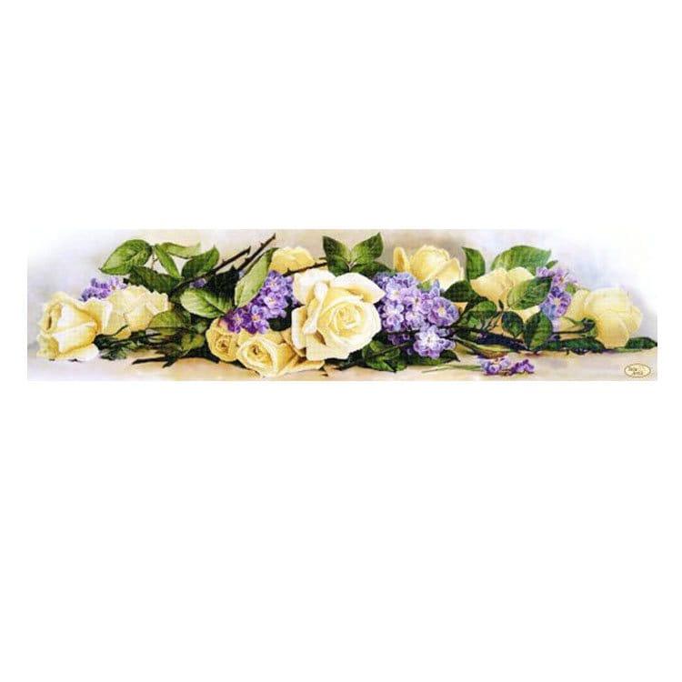 Bouquet provençal perlé perlé perlé broderie Kit bricolage perles broderie à la main broderie de perles de perles Perles coutures Wall Decor Kit avec perle cef1dd