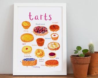 Tarts Art Print - A4