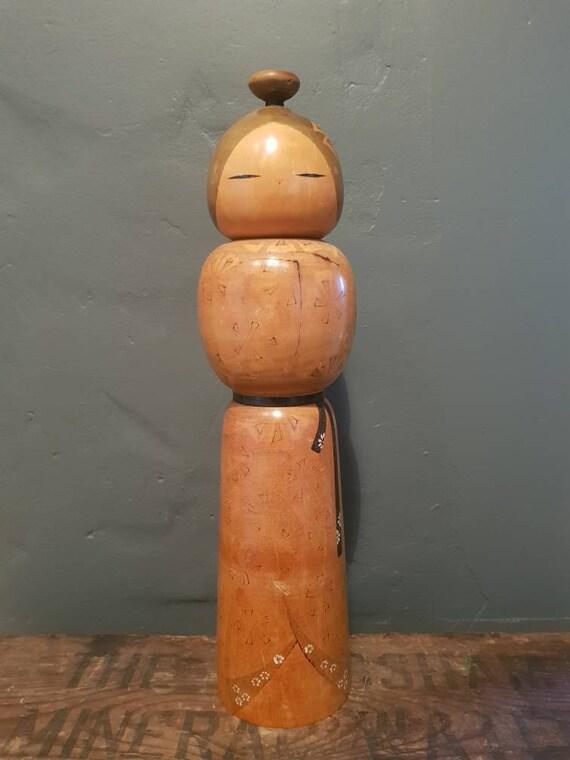 Vintage Japanese Kokeshi - 'Wooden Doll' - Traditional Art Doll