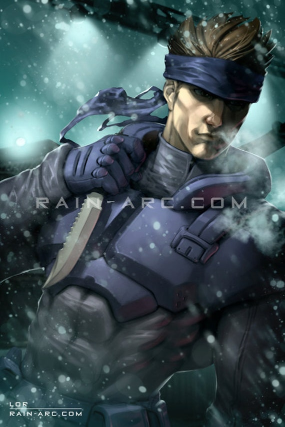 Solid Snake From Metal Gear Solid Art Print