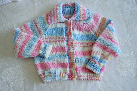 8d49e6141 Hand knitted girl s cardigan with collar in fairisle