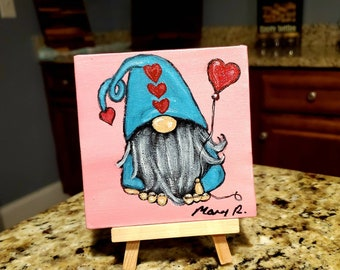 Gnome Painting Etsy