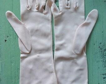 Vtg Pale Pink Gloves