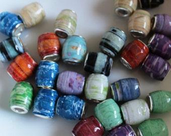 Pandoralike Paper Beads