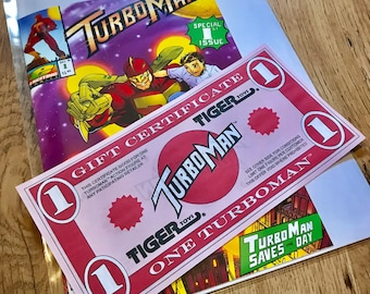 Turboman Gift Certificate Replica Prop - Jingle all the Way - Christmas Stocking Filler