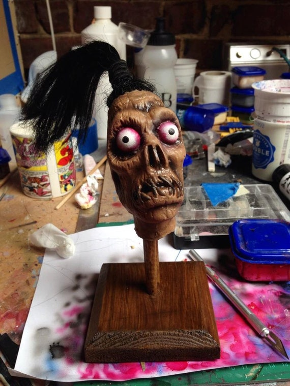 Beetlejuice Shrunken Head Guy Latex Horror Prop Replica Etsy