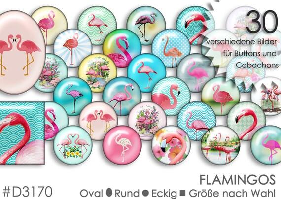 Cabochon Vorlagen Flamingo