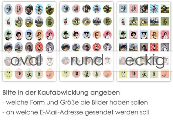Trachten 30 Cabochonvorlagen Cabochon Vorlagen Digital Download Buttonvorlagen Bilder Für Schmuck Cabochon Buttons Cabochon Template Collage
