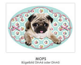 MOPS Ironing Pictures Ironing Foil Patch Patches Application Appli Fabric Picture T-Shirt Picture Various Sizes and Finishes