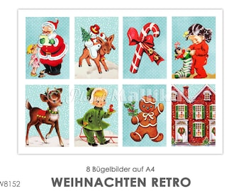 CHRISTMAS RETRO Ironing image Ironing foil ironing foil patch patches appli fabric picture T-shirt pictures vintage