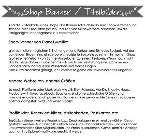 Shop Banner Retro Etsy Palundu Shopify Ebay Etsy