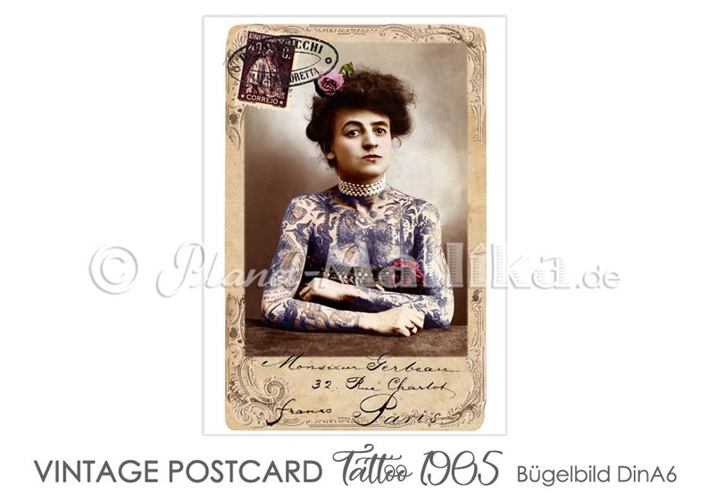 TATTOO 1905 ironing picture ironing pictures ironing foil image 0
