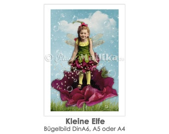 ELFE Ironing Picture Ironing Foil IronIng Foil Patch Patches Appli Fabric Picture T-Shirt Picture Girl Child