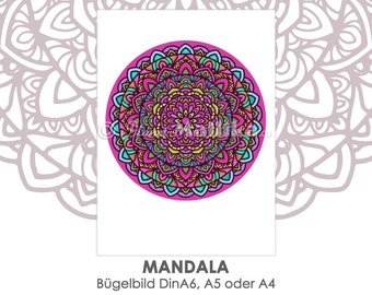 MANDALA Ironing image in different sizes ironing pictures Ironing foil ironing patches appli fabric image T-shirt picture