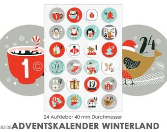 Advent Calendar Stickers, Advent Calendar Stickers, Advent Calendar Numbers, Advent Calendar Glue, Advent Calendar Children, Advent Crafts