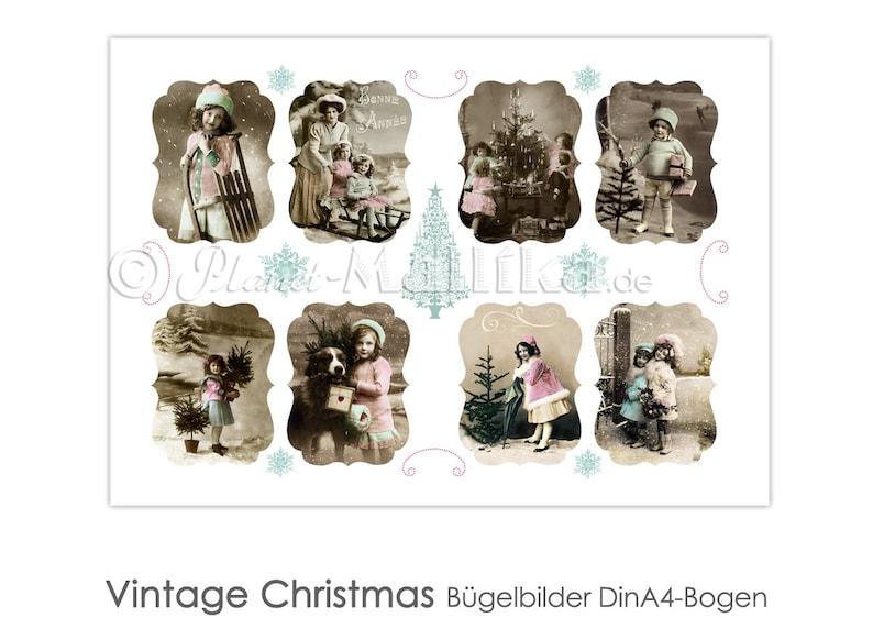 VINTAGE CHRISTMAS ironing embosic ironing images ironing foil image 0