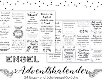 ENGEL Advent calendar with 24 angel and guardian angel sayings. Gift for dear people for the Advent season. Available in print or digitally