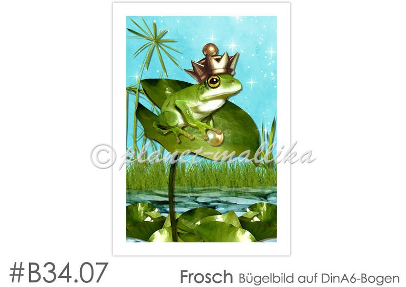 Ironing picture FROSCH Ironing pictures Ironing foil Ironing image 0