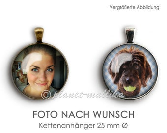 Chain pendant PHOTO AFTER WUNSCH chain pendant pendant photo cabochon pendant necklace according to customer's wishes customized personalized picture