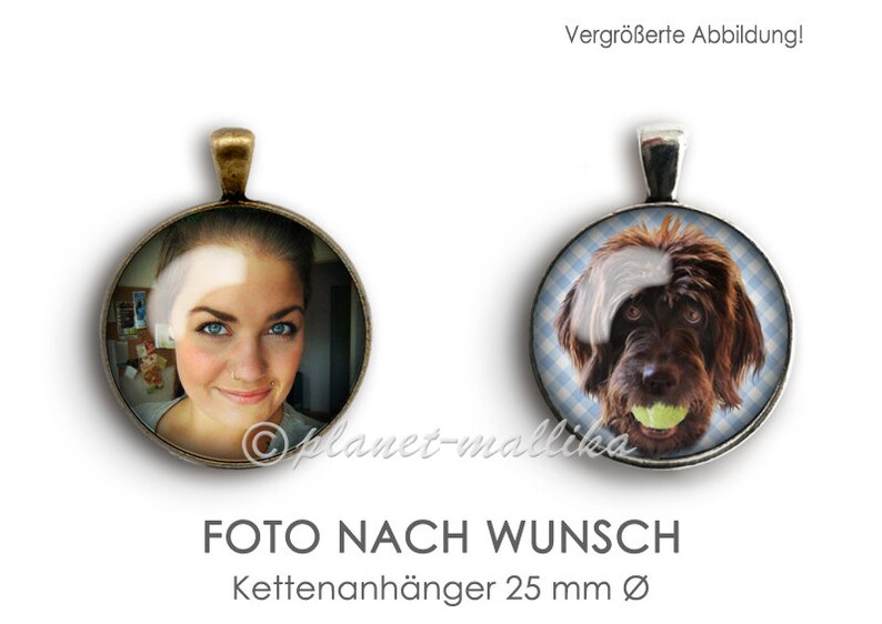 Chain pendant PHOTO AFTER WUNSCH chain pendant photo cabochon image 0