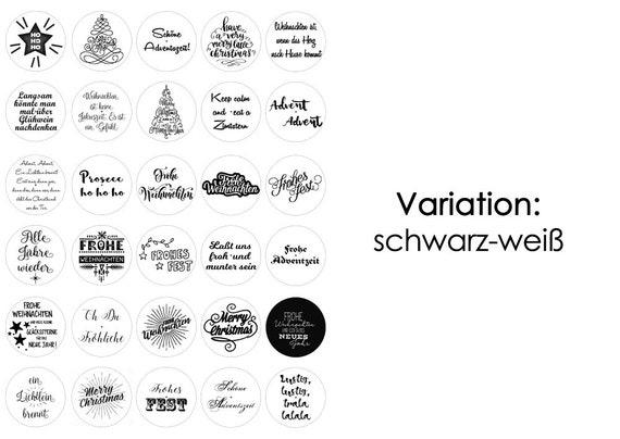 Weihnachten Advent Teelicht Botschaften Teelicht Vorlagen Bilder Für Teelichter Digitale Datei Zum Selbstausdrucken