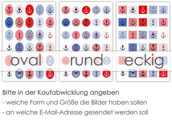 Anker Mit Herz 30 Cabochonvorlagen Cabochon Vorlagen Digital Download Buttonvorlagen Bilder Für Schmuck Cabochon Template Collage