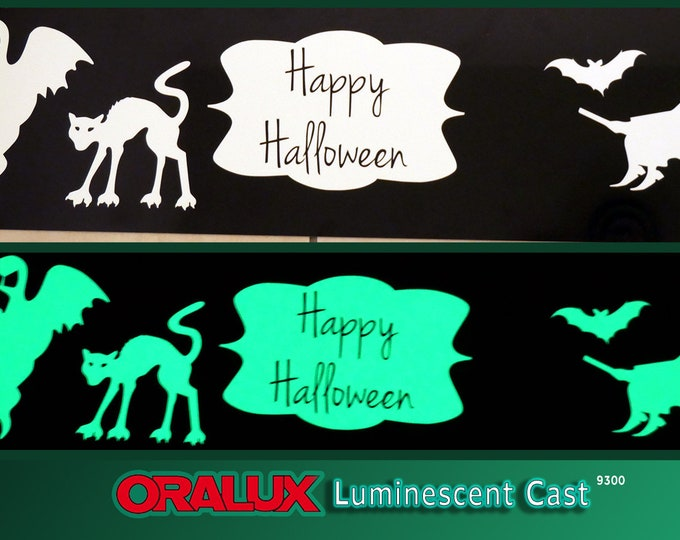 "12"" x 5 foot* / roll / Oracal / 9300 Oralux Luminescent Vinyl / Glow-in-the-Dark"