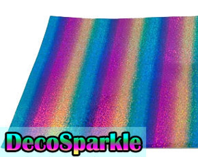 "1 Sheet 12""x 19.75"" DecoSparkle Rainbow Heat Transfer Vinyl - Heat Transfer Vinyl - HTV"