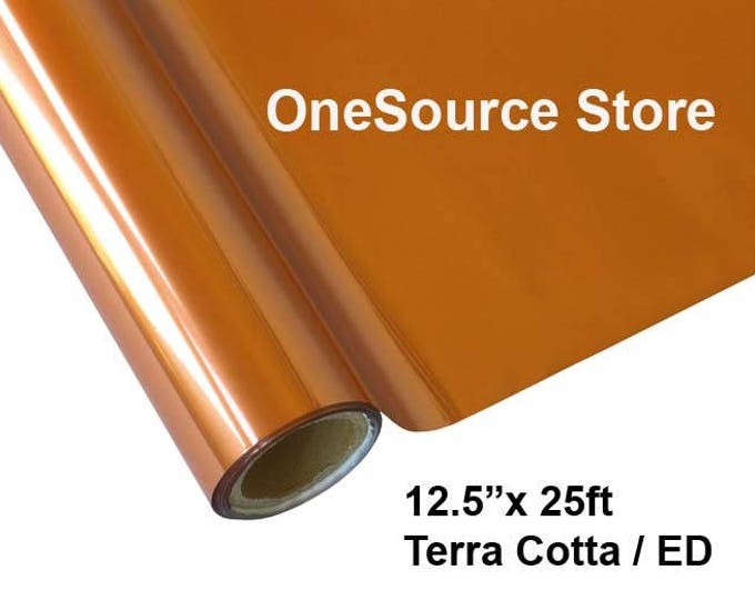 """HTV Textile Foil* / 12.5 """"x 25 ft / Terra Cotta / ED  -  Different process used - please read before ordering."""