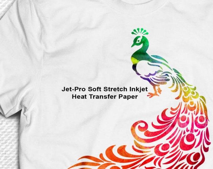 "8.5""x 11"" / 25 sheet / JET-PRO® Soft Stretch  / Heat Transfer Paper / For Light Fabric"