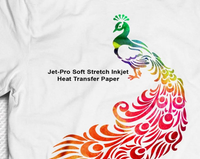 "8.5""x 11"" / 100pk / JET-PRO® Soft Stretch  / Heat Transfer Paper / For Light Fabric"