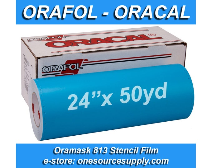 "1 roll 24""x 50 yards* Oracal 813 Oramask Stencil Vinyl / or 2 rolls 12""x 50 yards*"