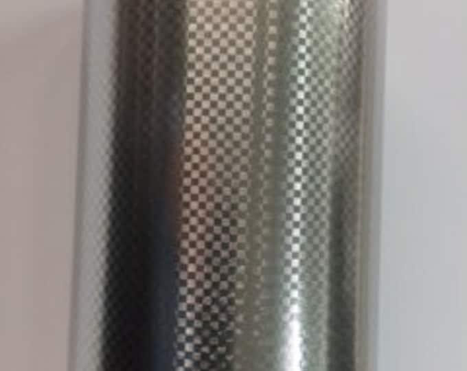 "12""x 24"" NEW / Silver Carbon Fiber Adhesive Back Vinyl"