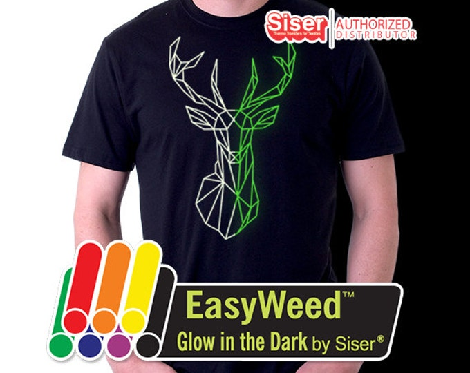"19.5""x 1 yard EasyWeed Glow In The Dark - Heat Transfer Vinyl - HTV"