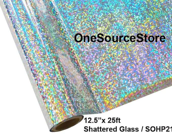 "HTV Textile Foil* / 12.5 ""x 25 ft / Shattered Glass / SOHP21"