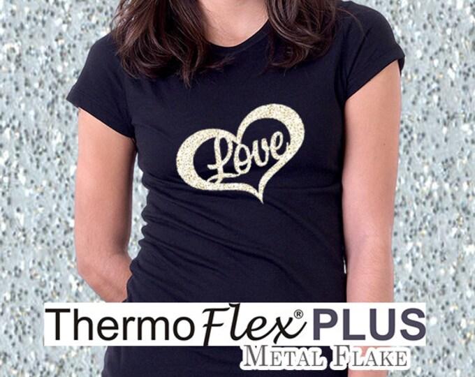 "12""x 15"" / 5-sheets / ThermoFlex Plus METAL FLAKE - Heat Transfer Vinyl - HTV"