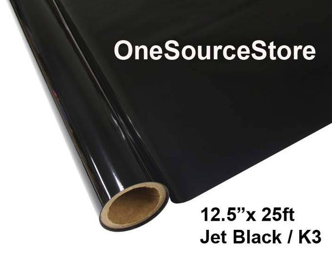 "HTV Textile Foil* / 12.5 ""x 25 ft / Jet Black / K3  -  Different process used - please read before ordering."