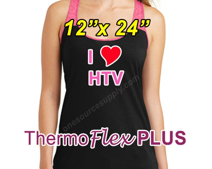 "12""x 24"" / 1-sheet / ThermoFlex Plus - Heat Transfer Vinyl - HTV"