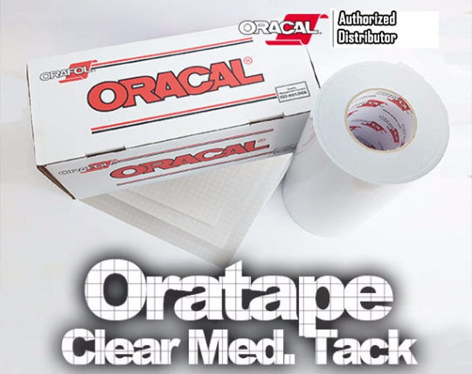 "10pk / 12""x 12"" Transfer Tape / Oratape Clear Medium Tack **NEW**"