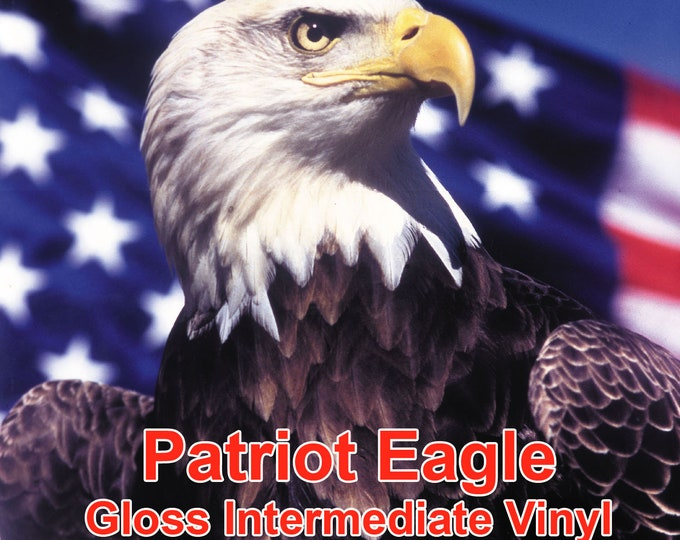 "12"" x 5yd Patriot Eagle Gloss Vinyl - PSV- Craft Vinyl - Decal Vinyl"