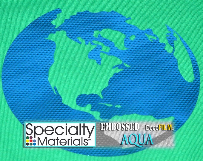 "Embossed DecoFilm  19.5""x5yds (1-continuous roll) HTV,  Heat Transfer Vinyl - HTV - While Supplies Last!"