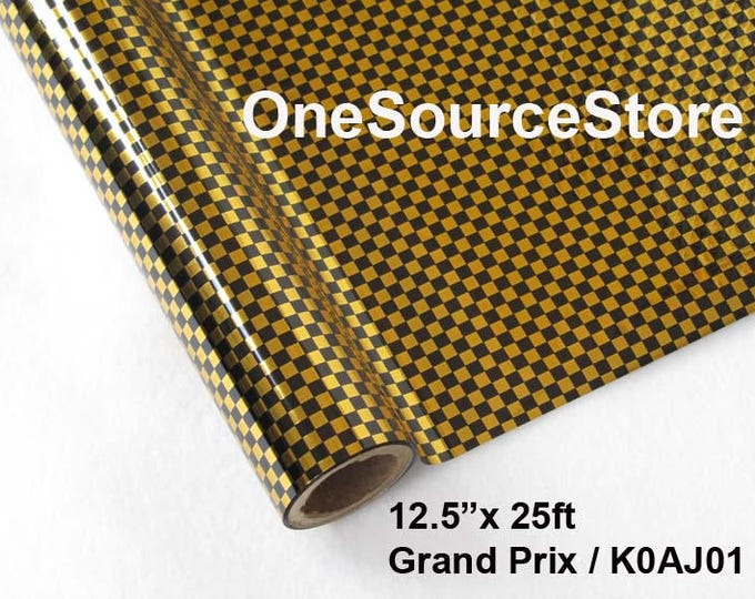 """HTV Textile Foil* / 12.5 """"x 25 ft / Grand Prix / KOAJ01  -  Different process used - please read before ordering."""