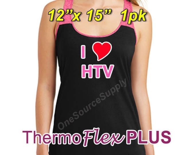 "12""x 15"" / 1-sheet / ThermoFlex Plus - Heat Transfer Vinyl - HTV"