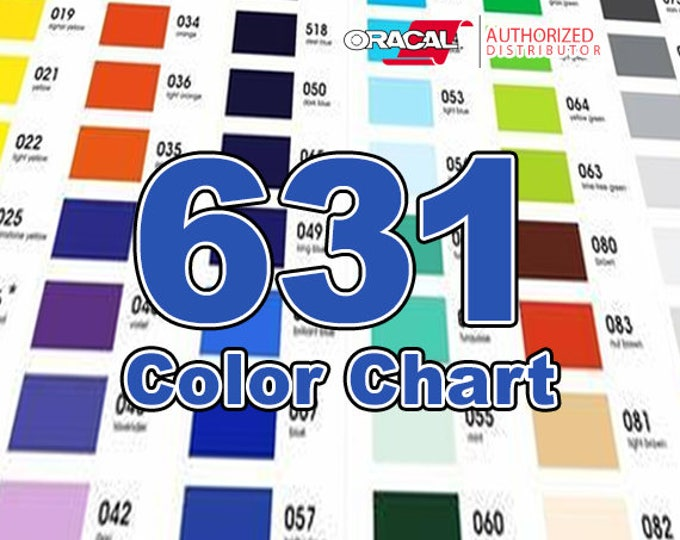 NEW/Oracal 631 Matte / COLOR CHART (only!) -includes new colors