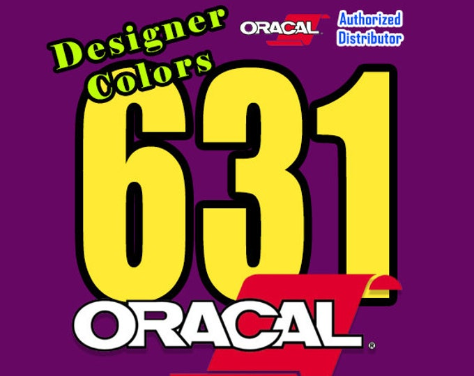 "24""x 1yd""  **New** Oracal 631 Matte Finish Wall Vinyl - Designer Colors"