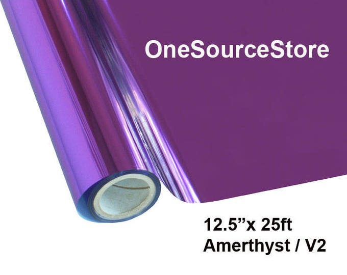 "HTV Textile Foil* / 12.5 ""x 25 ft / Amethyst / V2 -  Different process used - please read before ordering."