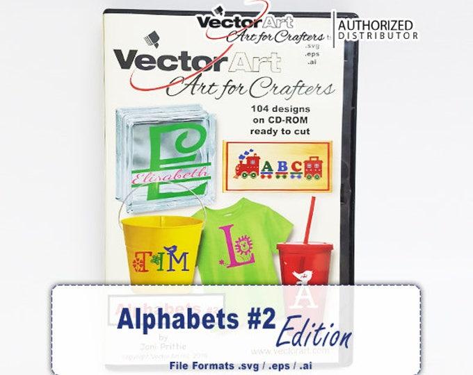 Alphabets #2 / VectorArt Crafters Artwork CD