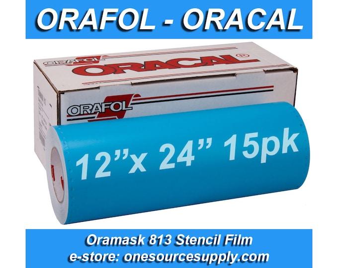 "15 pk / 12""x 24"" Oracal 813 Oramask Stencil Vinyl"