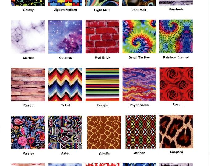 "Thermoflex Fashion Patterns - MISCELLANEOUS (Buffalo Plaids, Camo, Animal Prints, etc.)  1-sheet 15""x12"" HTV"