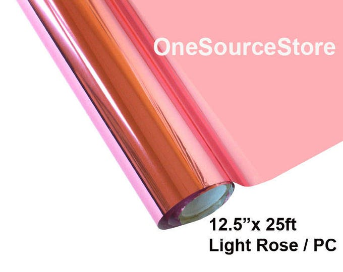 "HTV Textile Foil* / 12.5 ""x 25ft / Light Rose / PC  -  Different process used - please read before ordering."